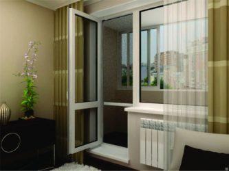 Балконный блок со стеклянной дверью