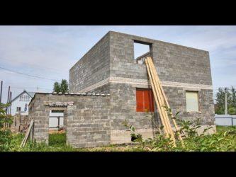 Дома в полблока из керамзитобетонных блоков