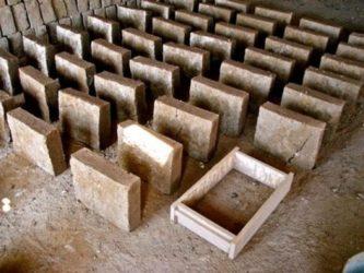 Блоки из глины и опилок