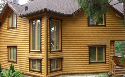 Деревянный блок хаус для обшивки дома