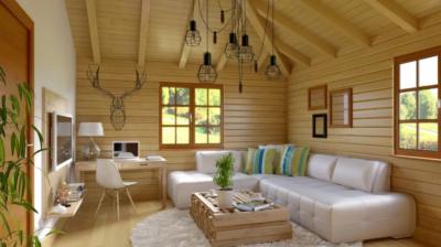 Чем покрасить блок хаус внутри дома?