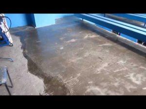 Полы в гараже из жидкого стекла