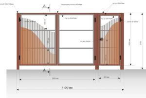 Ворота из металлопрофиля – пошаговая инструкция