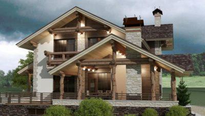 Технология строительства дома шале