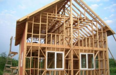 Строительство двухэтажного каркасного дома