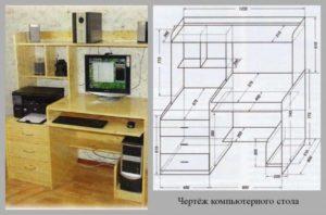 Как собрать компьютерный стол или комфорт сделанный своими руками