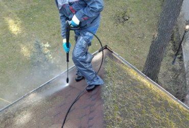 Как убрать мох с мягкой кровли?