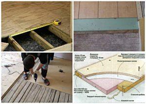 Технология укладки керамогранита на деревянный пол