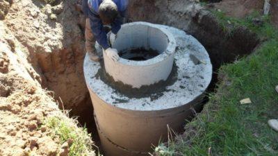 Строительство колодца из бетонных колец