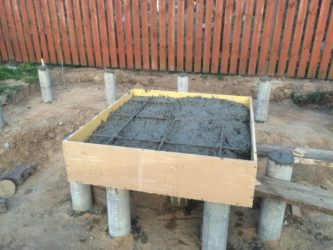 Свайный фундамент под кирпичную печь