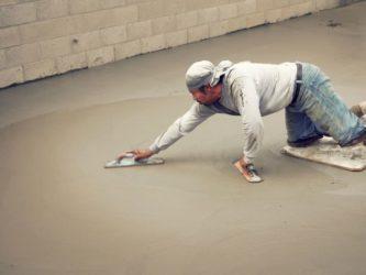 Как зажелезнить цементную стяжку?