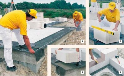 Инструкция по строительству дома из газобетона