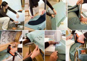 Как перетянуть диван – мастер-класс по перетяжке мебели