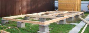 Столбчатый фундамент – самое простое и дешевое основание для дома
