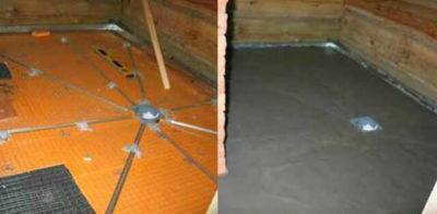Стяжка пола в бане под плитку