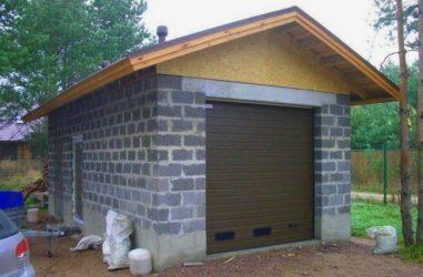 Строительство гаража из керамзитоблоков