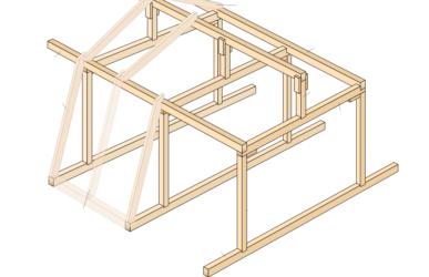 Строительство мансарды поэтапно с элементами крепления узлов