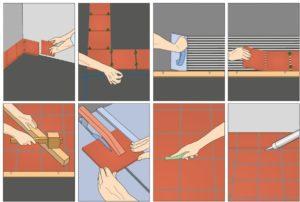 Пошаговая инструкция укладки керамической плитки