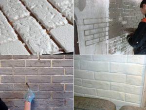 Стена под кирпич своими руками – описание различных