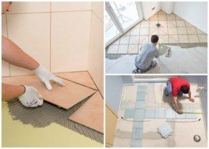 Технология укладки керамической плитки на пол в ванной