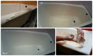 Тройка популярных методов реставрации ванны – сравниваем