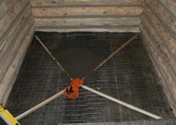 Стяжка пола в бане с уклоном