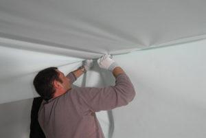 Монтаж тканевых натяжных потолков своими руками и стоимость с установкой