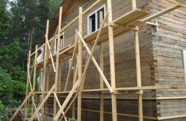 Строительство лесов своими руками из дерева