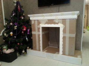 Делаем сами простой и красивый портал для камина из разных материалов